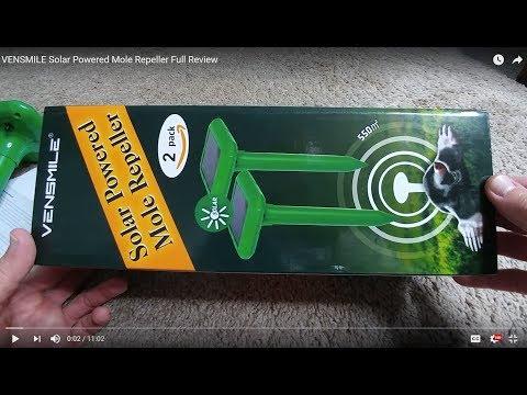 VENSMILE Solar Powered Mole Repeller Full Review