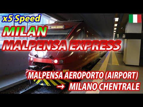 5x MILAN MALPENSA EXPRESS for Milano Centrale (Passenger's View) ミラノ・マルペンサエクスプレス ミラノ中央駅行・全区間