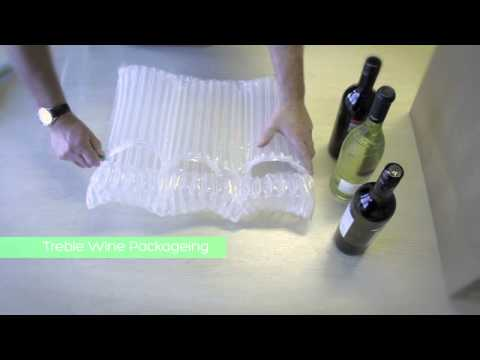 Inflatable protective packaging for wine, glass bottles, fragile products