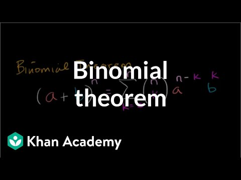 Binomial theorem   Polynomial and rational functions   Algebra II   Khan Academy