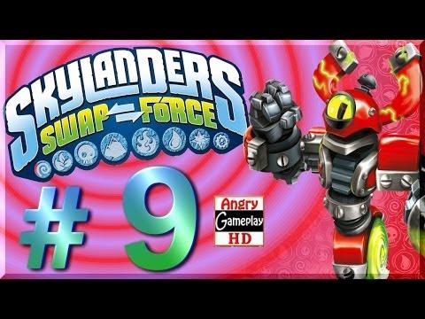 [HD] Skylanders Swap Force Walkthrough #9 - 2 Player Local Co Op - Mudwater Hollow Part 1