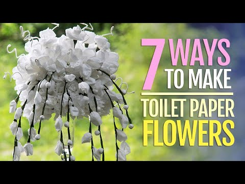 7 Toilet Paper Flowers DIY