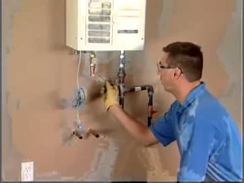 Tankless Water Heater Installation   Plumbing and Gas Connections