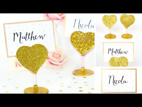 How To Make Place Cards and Holders
