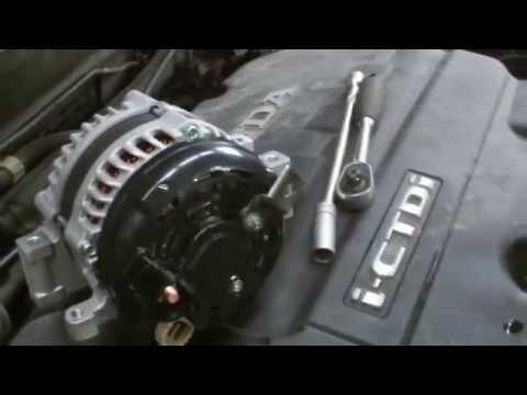 honda crv 2 2 diesel alternator replacment
