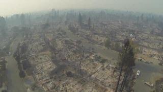 Cal wildfires: Drone footage captures Santa Rosa decimation