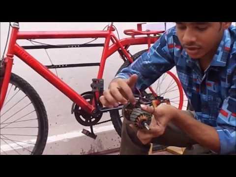 Detailed video of FLYWHEEL BASED BICYCLE GENERATOR