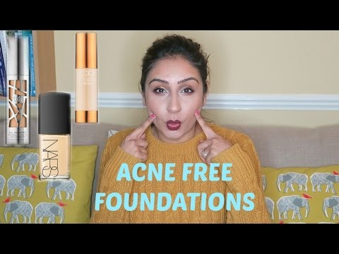 Top 4 foundations Acne Cystic Acne prone skin | Raji Osahn