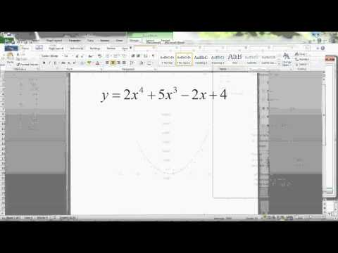 MICS Graphing Polynomials in MS Excel