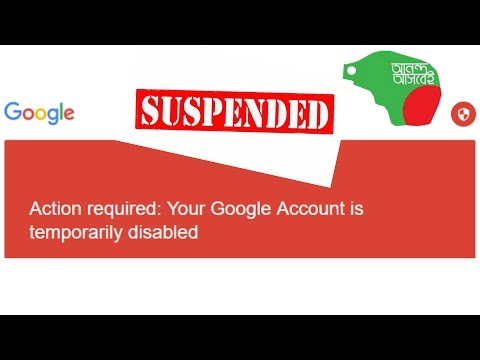 Action required Your Google Account is temporarily disabled, How to Fix it?
