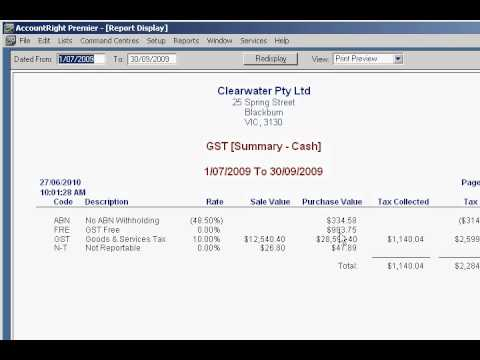 How to Check My GST in MYOB, JD Accounting Pty Ltd