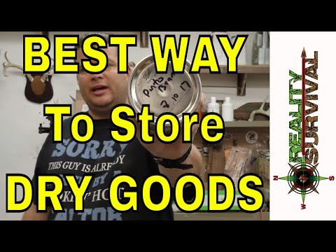 Best Way To Store Dry Goods Long Term