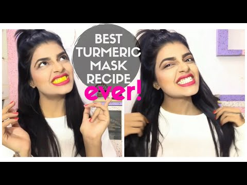 how to get WHITE TEETH without baking soda | TURMERIC MASK teeth whitening