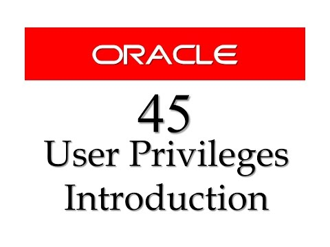 SQL tutorial 45: Introduction to user Privileges in Oracle Database By Manish Sharma RebellionRider