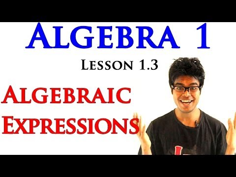 Algebra 1 Lessons 1.3 - Expressions with Variables