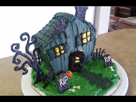 HALLOWEEN HAUNTED HOUSE CAKE. Cake Decorating