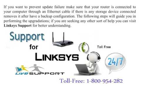 How to update Linksys router's firmware?
