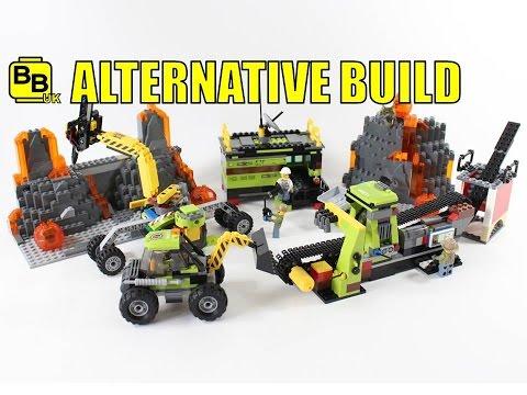 LEGO CITY VOLCANO 60124 ALTERNATIVE BUILD LAVA QUARRY
