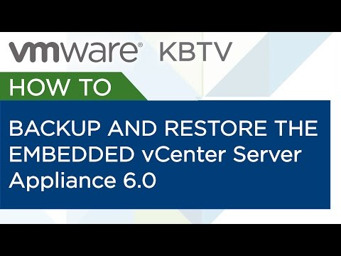 How to backup and restore the embedded vCenter Server Appliance 6.0 vPostgres database