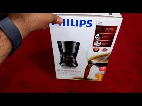Philips HD7431 Coffee Maker Unboxing in English