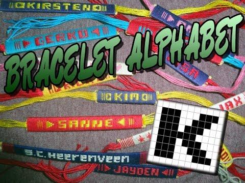 Friendship Bracelet Crochet Yarn, Alphabet: Letter K