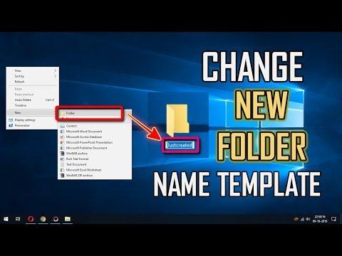 CUSTOMIZE NEW FOLDER NAME TEMPLATE - WINDOWS 10 TIPS & TRICKS