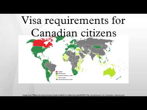 Visa requirements for Canadian citizens