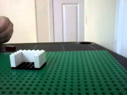 How to build a lego tv stand with tv and cable box