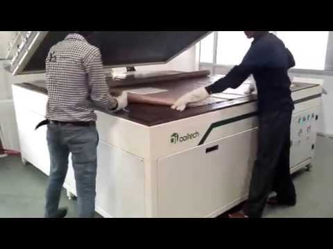 Ooitech Semi automatic laminator operation in India factory 2015 10