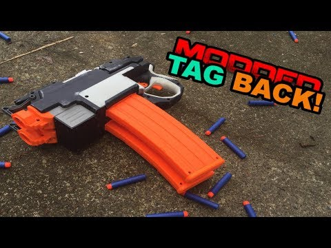 MODDED TAG BACK! - The NERF Deleter (Double Hyperfire Autopistol Mod)