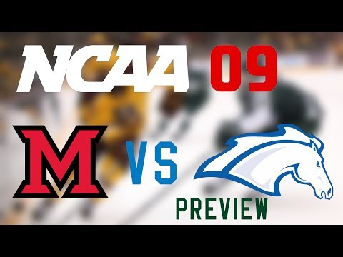 NHL 09 NCAA Mod Preview - Miami RedHawks vs Alabama-Huntsville Chargers