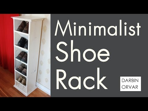 DIY Minimalist Shoe Rack