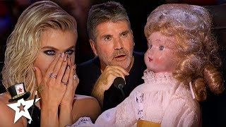 Judge Gets Possessed By Haunted Doll on America's Got Talent | Magicians Got Talent