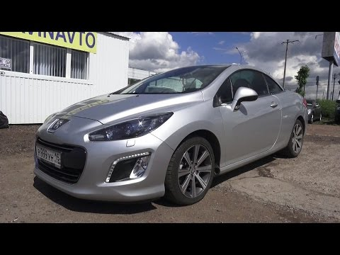2013 Peugeot 308 CC Convertible. Start Up, Engine, and In Depth Tour.