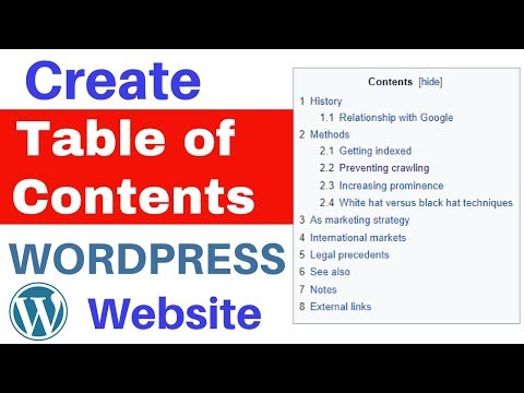 How to Create a Table of Content in Wordpress 2018 [Hindi]