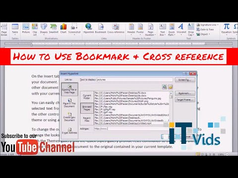 How to use Bookmark and Cross reference in Ms word 2007