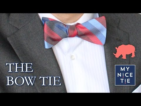 How to Tie a BOW TIE (slow=beginner)   How to Tie a Tie with a Freestyle Bow (easy)