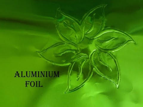 how to draw on Aluminium foil