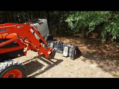 Skid Steer Quick Attach for Tractors-How to change front implements with hydraulic lines