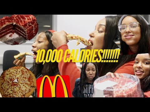10,000 CALORIE CHALLENGE!!!!!!! | Ft. Ali Julia Hair