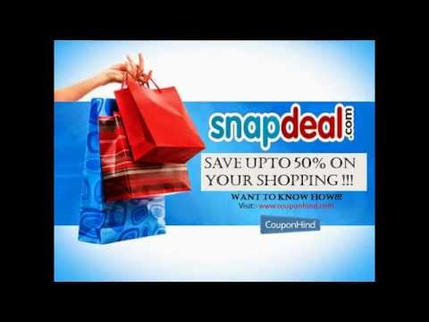Where to Get Snapdeal Discount Coupons Code and Deals for online shopping.