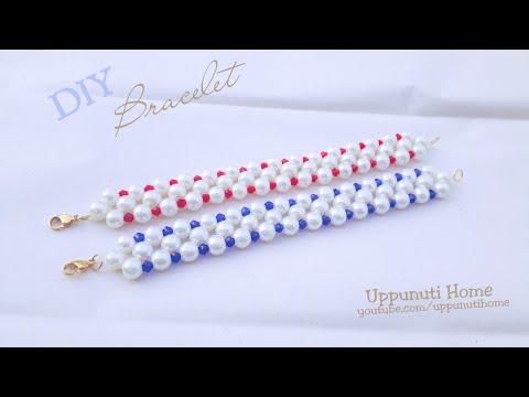 How To Make Beautiful Pearl Bracelet At Home | DIY I Beaded bracelet | Pandahall | uppunutihome