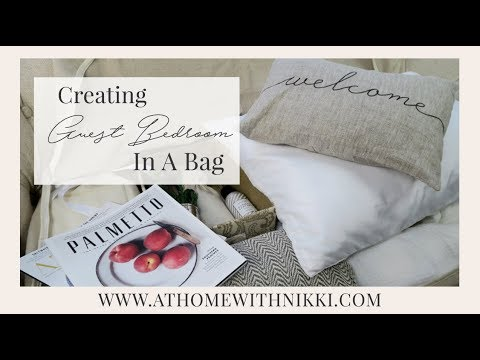 SMALL SPACE ORGANIZATION | HOW TO CREATE A GUEST BEDROOM WITH NO SPACE | DIY GUEST BEDROOM IN A BAG