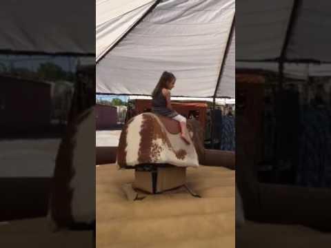 Little E - Bull riding at Hawes Family Farm