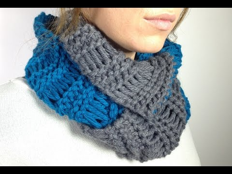 How to Loom Knit an Infinity Scarf in Elongated Stitch using a Round Loom (DIY Tutorial)