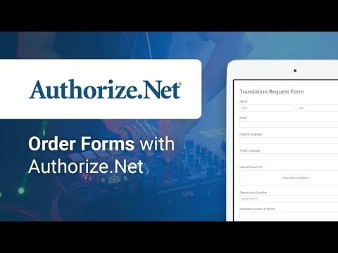 Creating an Order Form with Authorize.Net integration