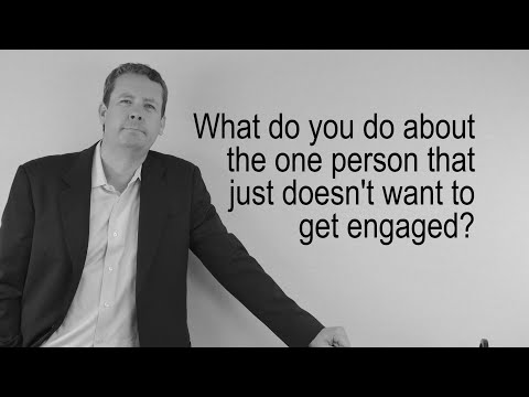 What do you do with a disengaged employee?