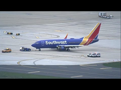 Damaged Southwest Plane Moved From Runway