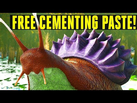 INFINITE CEMENTING PASTE SNAIL! How to tame/Everything you need to know! Ark: Survival Evolved 252