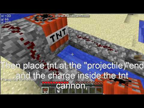 Minecraft: How to build a quick raiding tnt cannon